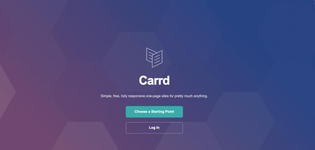 Carrdの公式サイトトップページ画像
