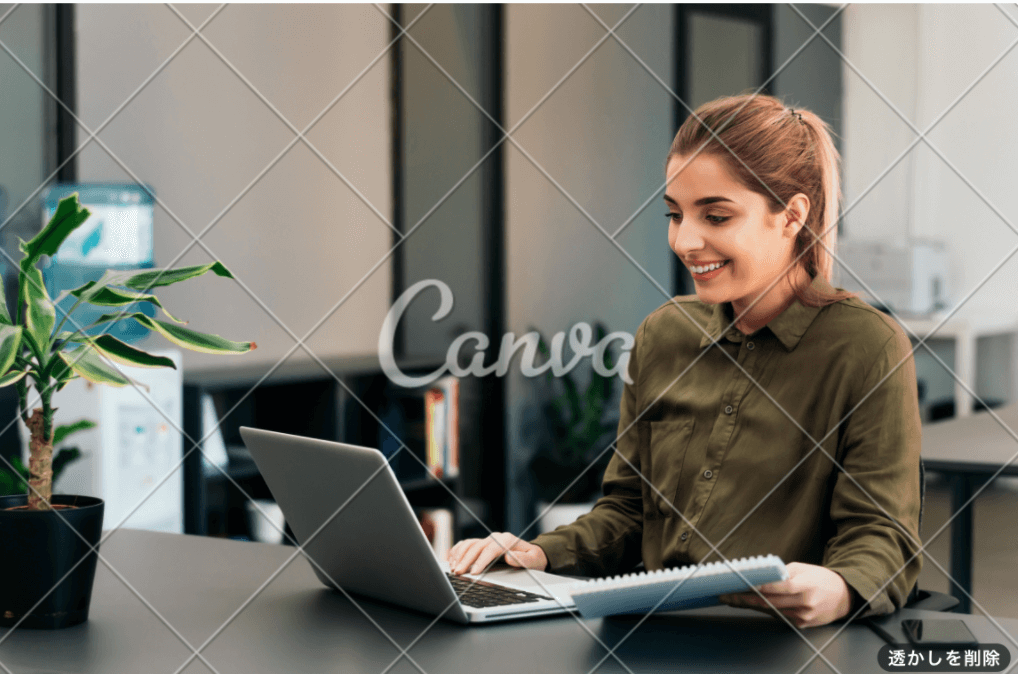 Canvaの有料テンプレート画面のスクリーンショット