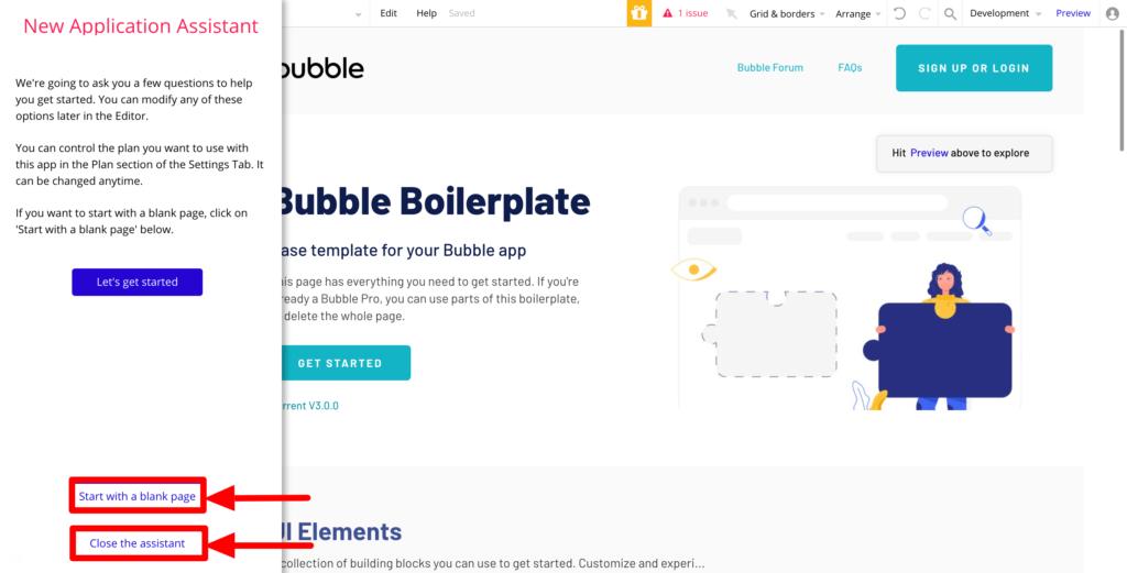 bubbleアシスタント機能の画像
